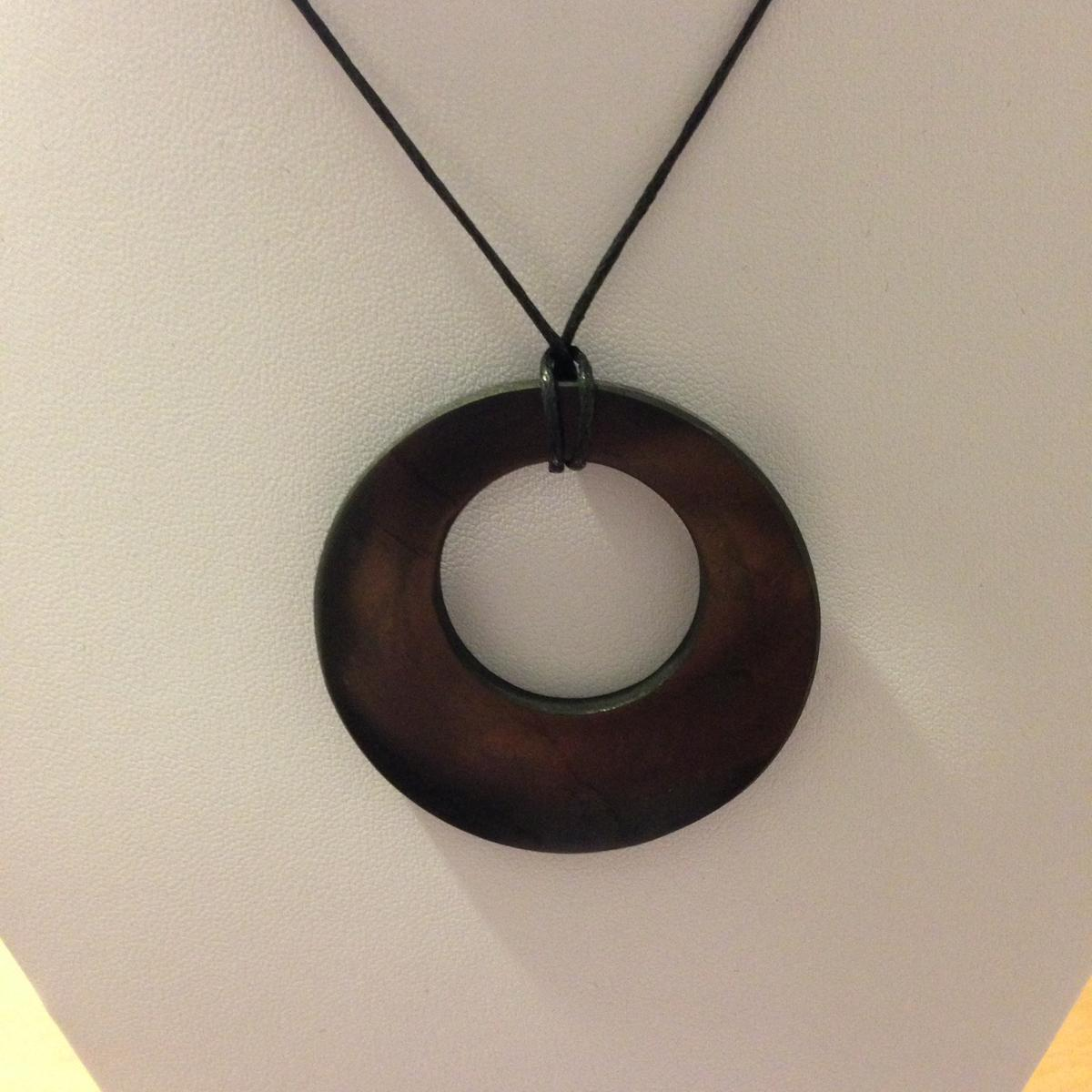 shungite pendant quot circle in a circle quot the tree