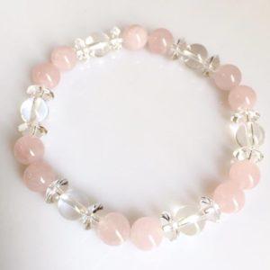 Rose Quartz and Quartz Bracelet