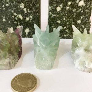 Fluorite Dragon Carving