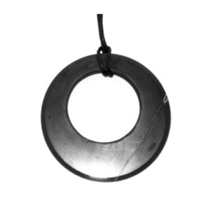 Circle in a circle shungite pendant