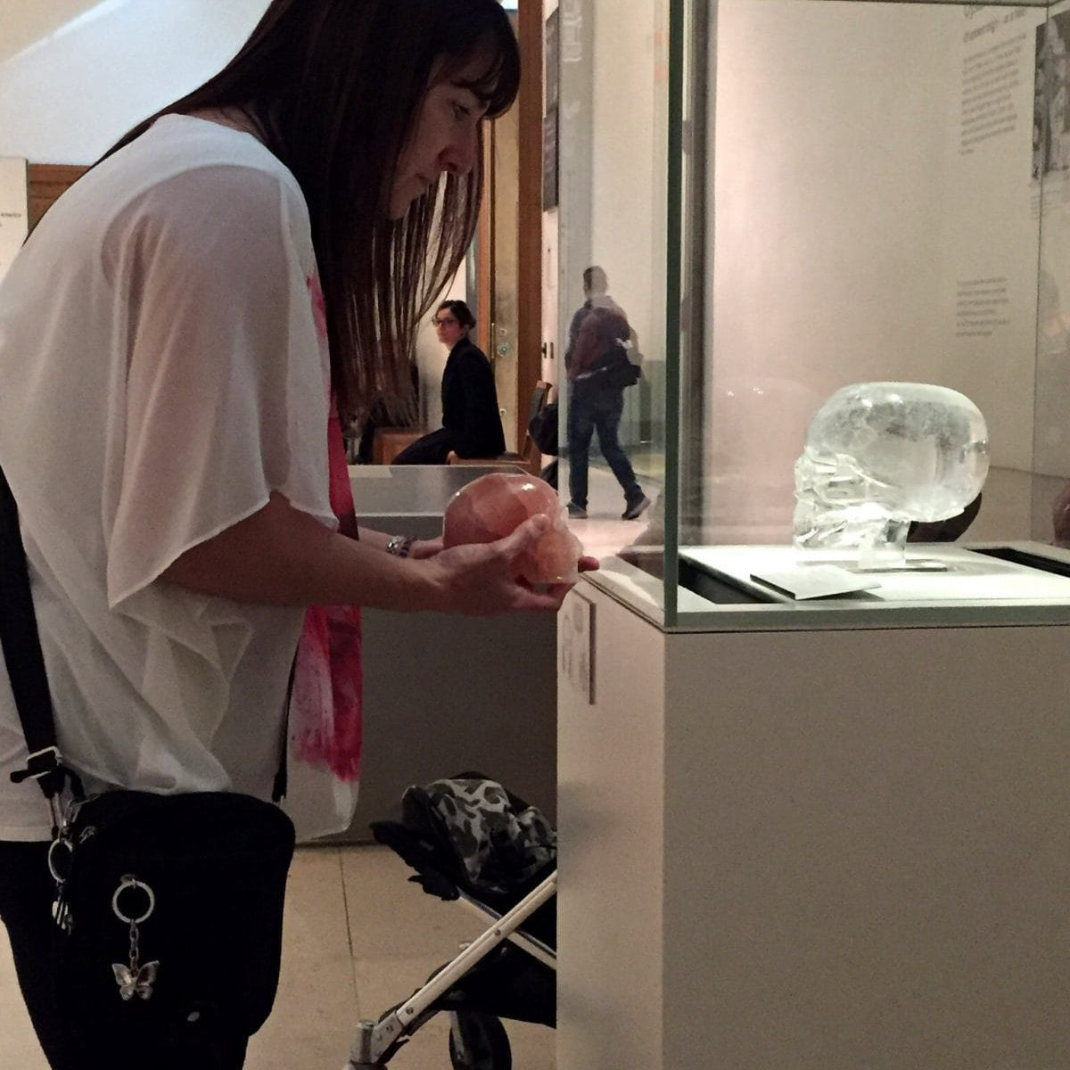 Tracy with The British Museum Crystal Skull